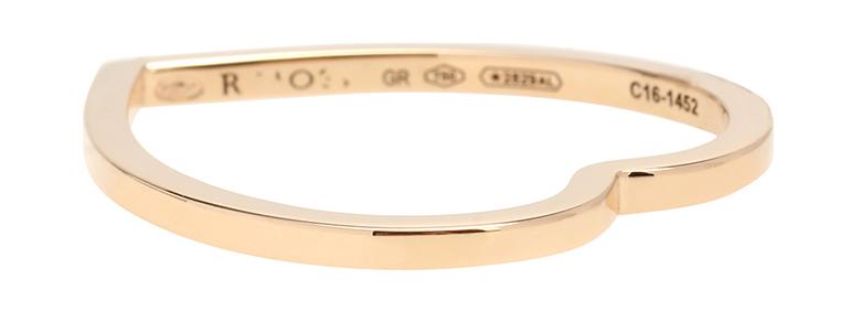 RepossiAntifer Heart 18kt rose gold ring, $600