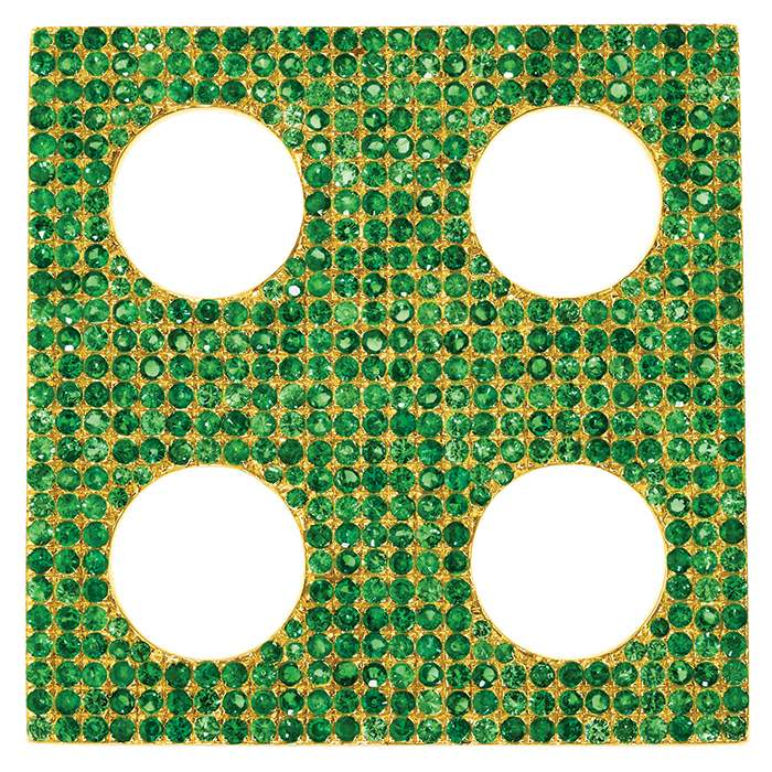 Green Tsavorite Square earring, Sabine Getty BIG collection