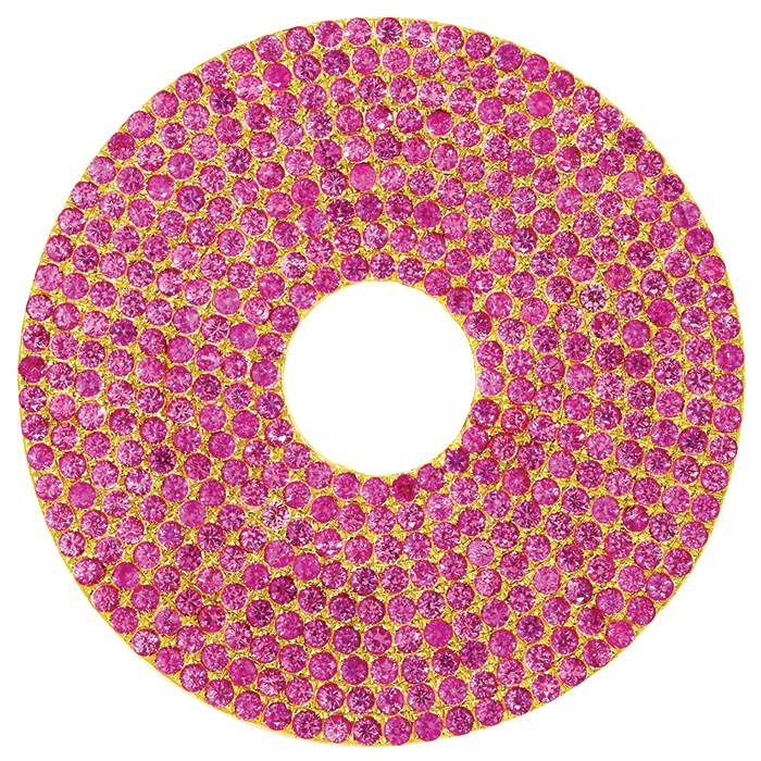 Pink Sapphire Circle earring, Sabine Getty BIG collection