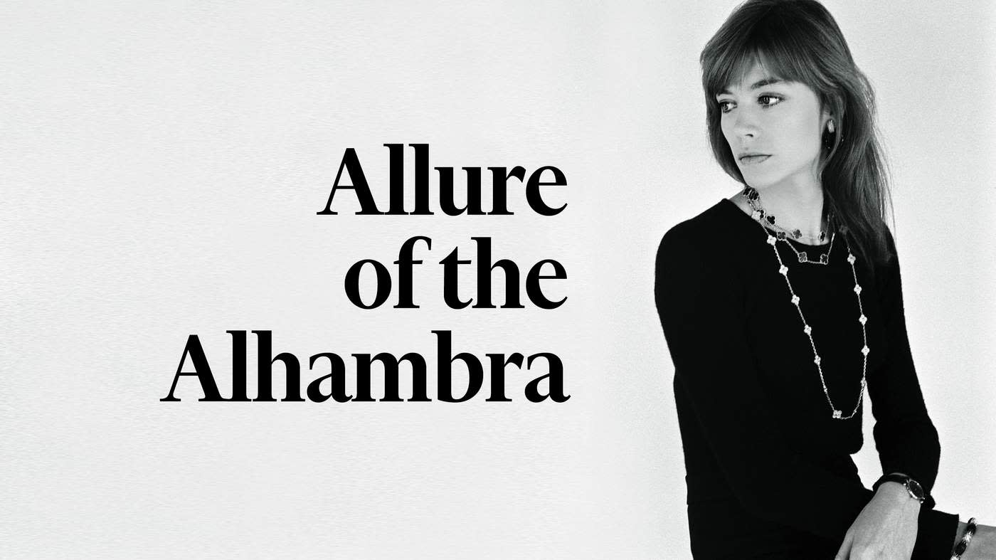 Singer-songwriter Françoise Hardy wearing Van Cleef & Arpels Alhambra sautoirs. Catherine Rotulo, 1973, courtesy 'Alhambra' by Nicholas Foulkes