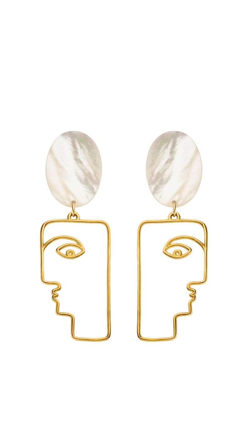 Nina Kastens 'Mop Face' earrings, €329
