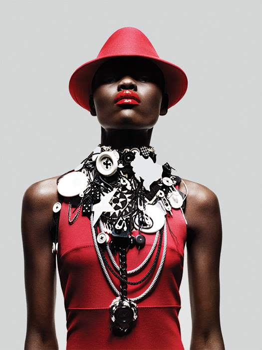 'i-D' shoot featuring Judy Blame necklace. William Baker