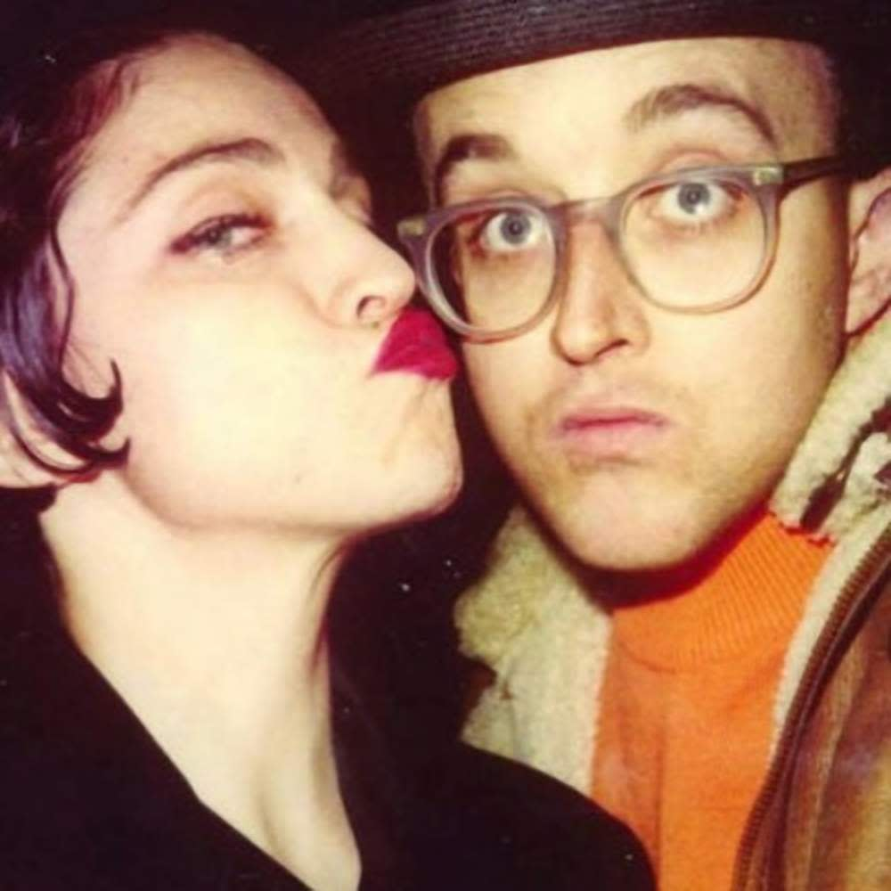Keith Haring with Madonna. Photo supplied by Capital Pictures