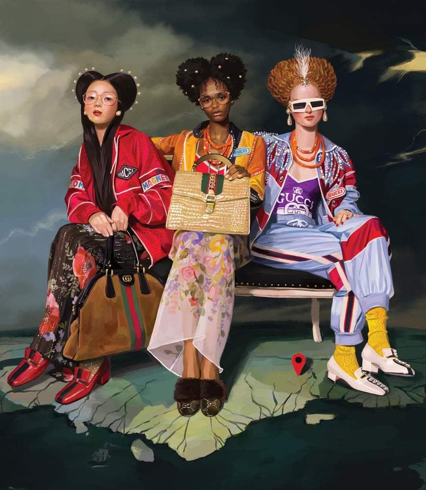 Ignasi Monreal's artwork for Gucci's SS18 campaign. Courtesy Delfino Sisto Legnani & Marco Cappelletti