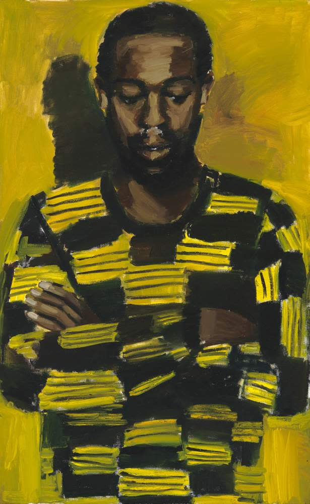 Lynette Yiadom-Boakye, Amber in the Ether, 2015, oil on canvas LYB15-47 ©The artist, Corvi-Mora, London and Jack Shainman Gallery, New York