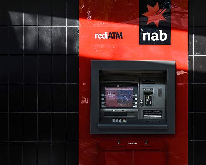 One of National Australia Bank's ATMs
