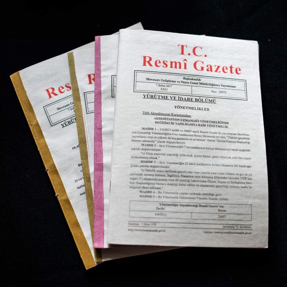 The Resmi Gazete: where Mr Erdogan's decrees become official