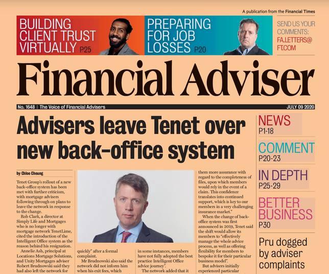 Read it now: Advisers leave Tenet & Pru faces IFA complaints