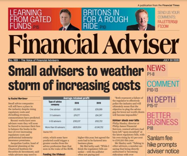 Read it now: Advisers to weather storm & Sanlam fee hike prompts departures