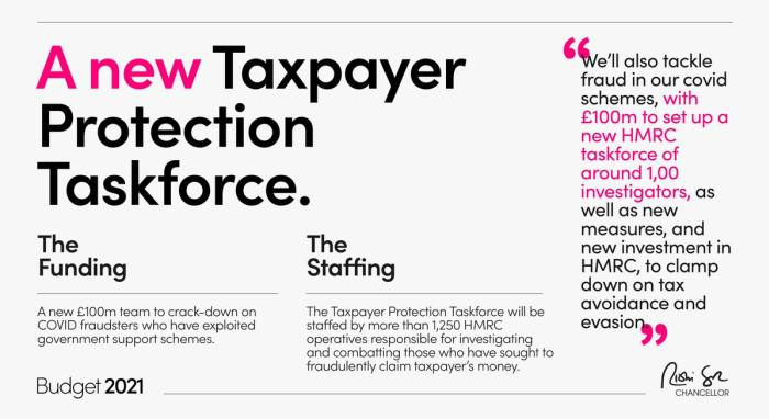 Budget 2021: Taxpayer Protection Taskforce to combat fraud