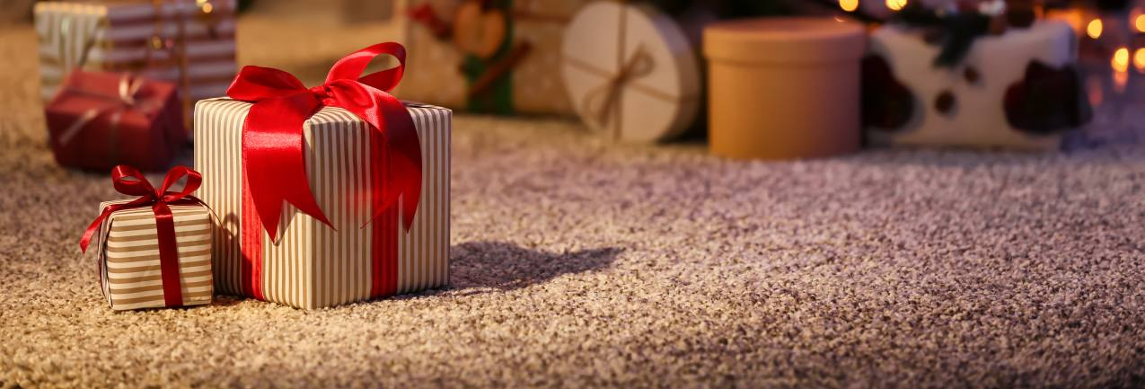 Gift under a Christmas tree