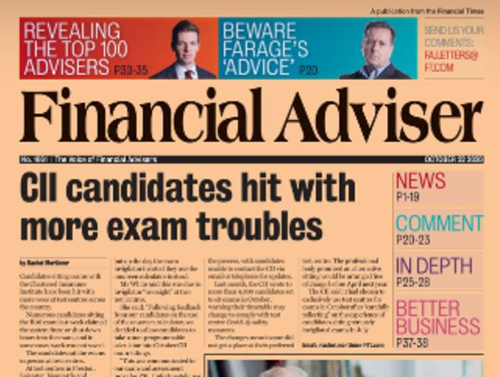 Read it Now: CII exam woes & FSCS levy up 174% for an adviser