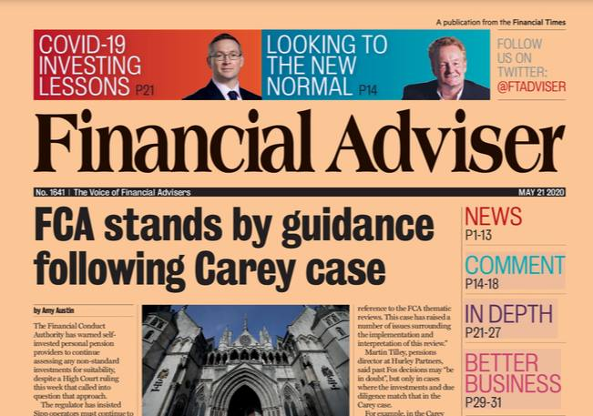Read it now: FCA stands by guidance following Carey case