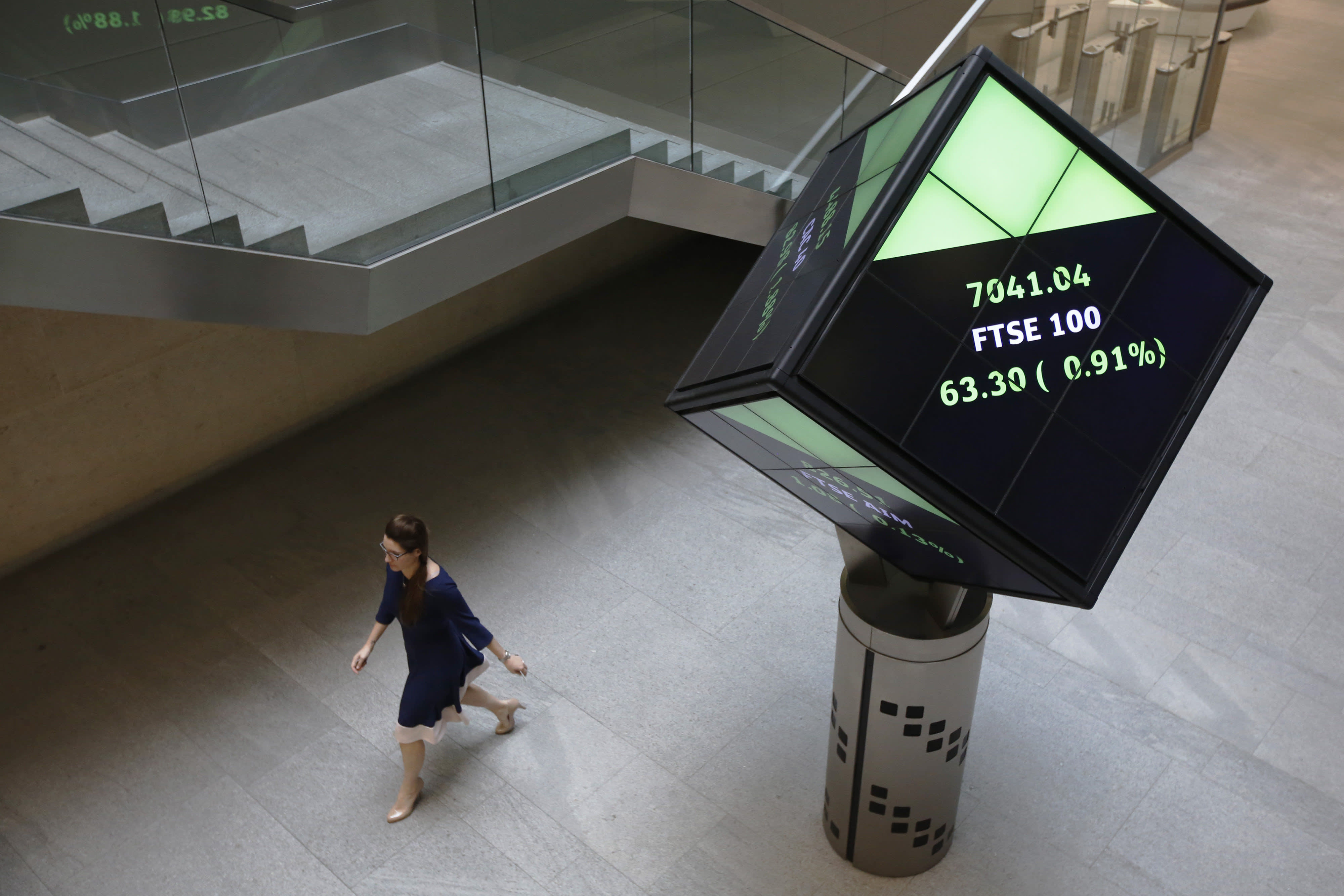 FTSE opens up 5% after historic rate cut