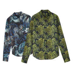 House of Hackney poplin Limerence shirt (left) and Palmeral shirt (right), £165 each