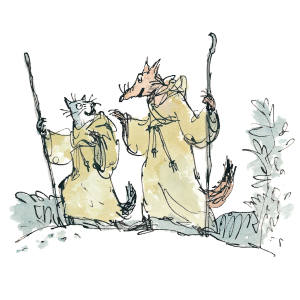 Illustration from The Cat and the Fox