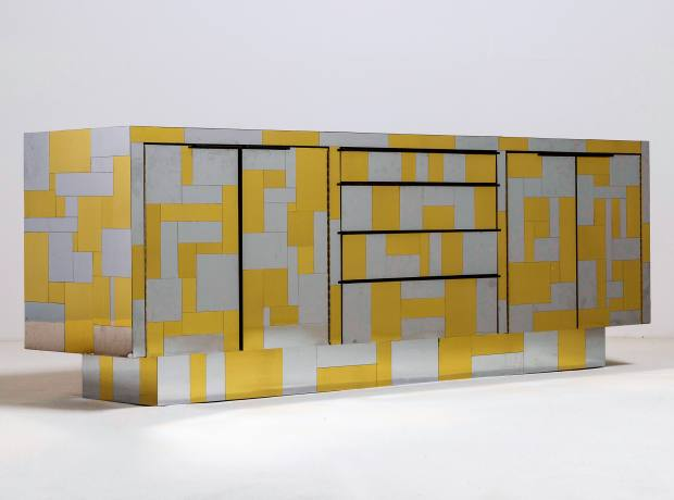 Paul Evans brass and chrome cabinet from his Cityscape collection, £46,000