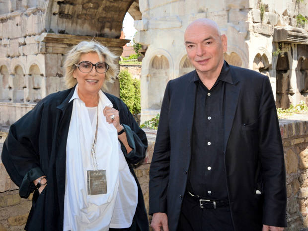 Alda Fendi with Jean Nouvel