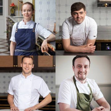 The Strathearn Series guest chefs (clockwise from top left): Roberta Hall-McCarron, Paul Graham, Sam Carter and Scott Smith