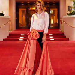 Dovima Paris taffeta Aria skirt, $1,395 (also available in black)