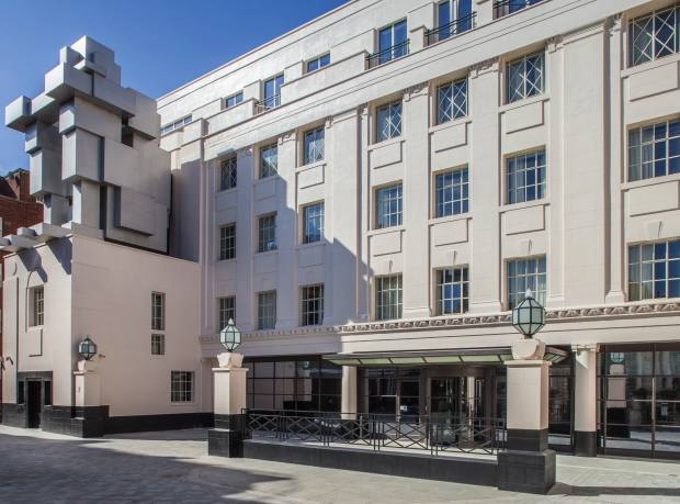 The Beaumont hotel, London, with its Antony Gormley sculpture