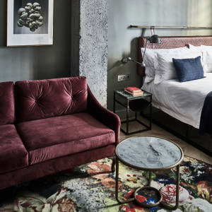 "The 32 bedrooms at Gorgeous George have a ""warm industrial"" style – cool but still cosy"