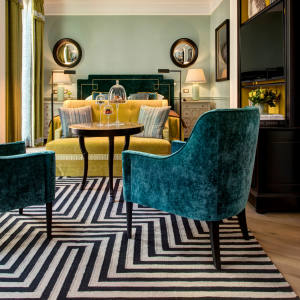 An elegant Junior suite at the Hotel de la Ville, Rocco Forte's latest offering in the Italian capital