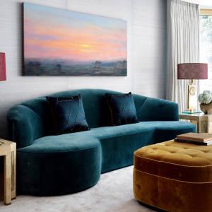 Natalia Miyar velvet sofa, price on request