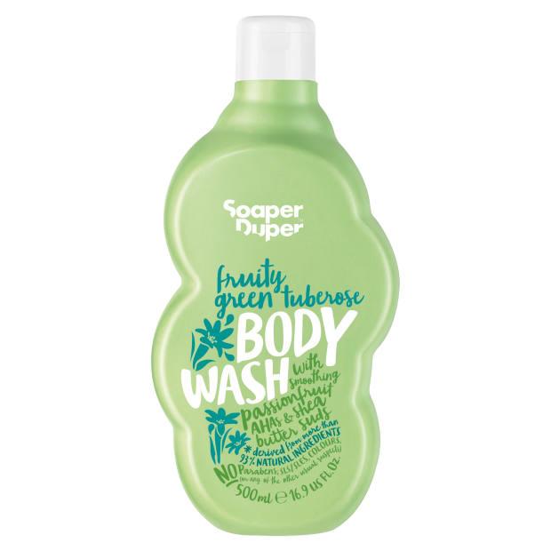 Soaper Duper Fruity Green Tuberose body wash, £7.50 for 500ml