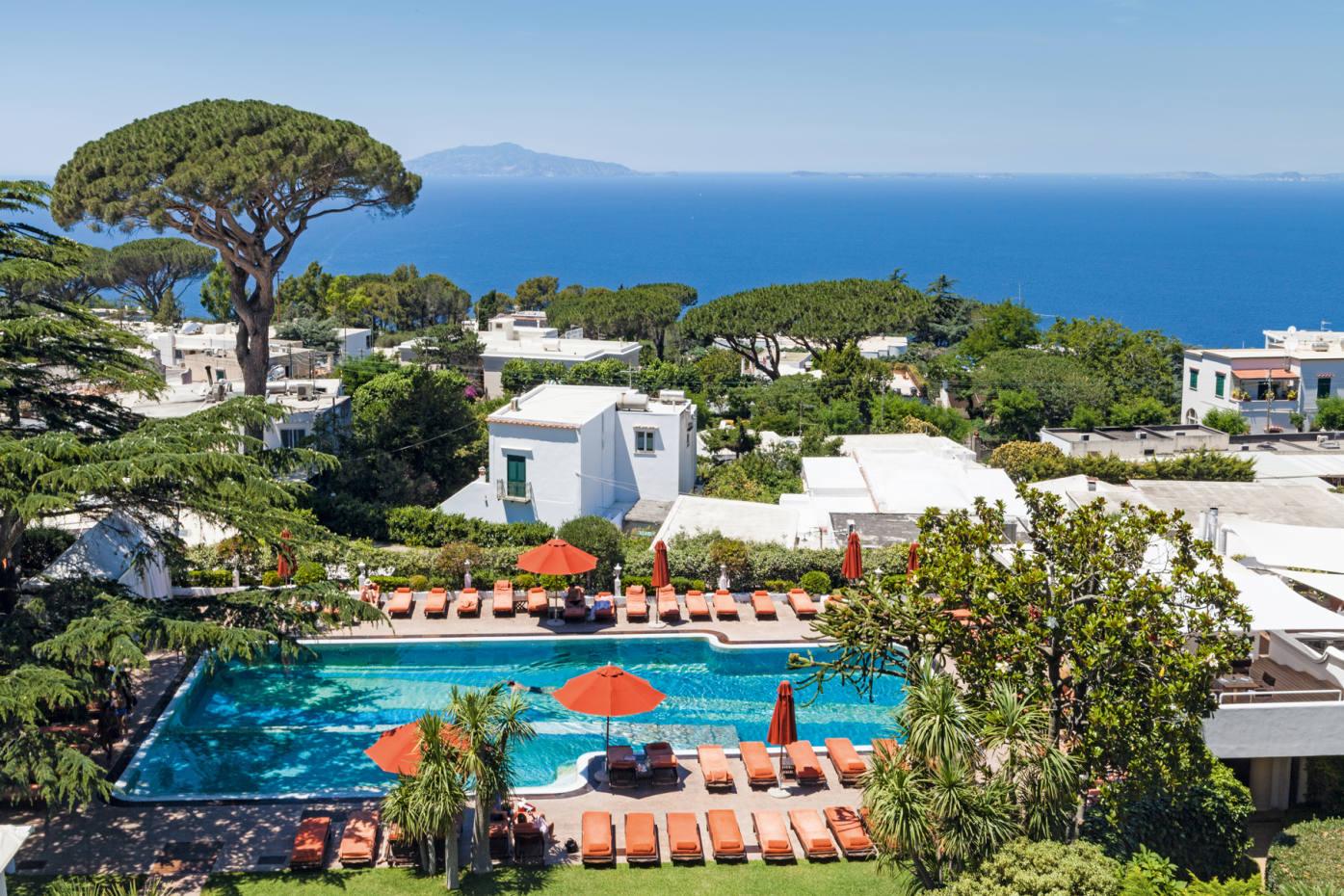 The Capri Palace Hotel in Anacapri overlooks the Amalfi Coast