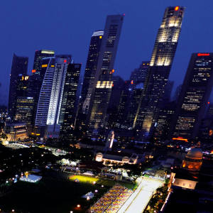 Singapore, and its rapidly developing skyline, abuzz with the 2009 Formula One Grand Prix, the second to be run at night.