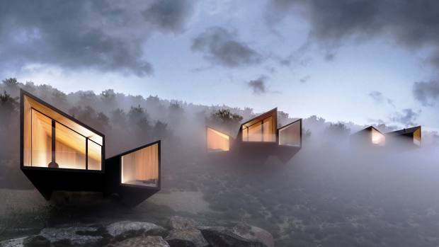 Mountainside cabins designed by Saudi architect and engineer Khalid Henaidy