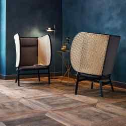 Front for Gebrüder Thonet Vienna cane and beech Hideout chair, £2,130