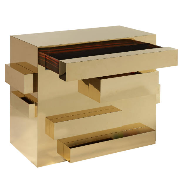 Mattia Bonetti brass, macassar ebony ad woo Monolith chest of drawers, £72,000