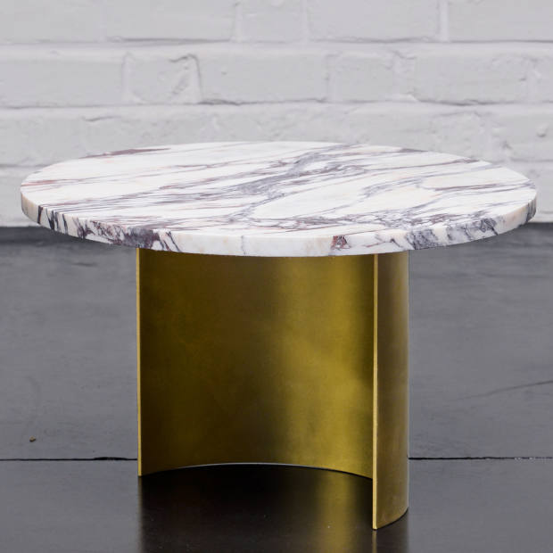Sébastien Caporusso brass and marble Breccia Viola table, €2,045