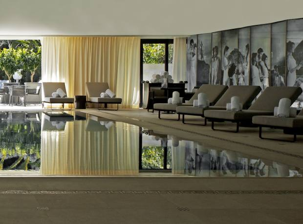 The Karl Lagerfeld-designed Odyssey pool at the Hotel Metropole, Monaco