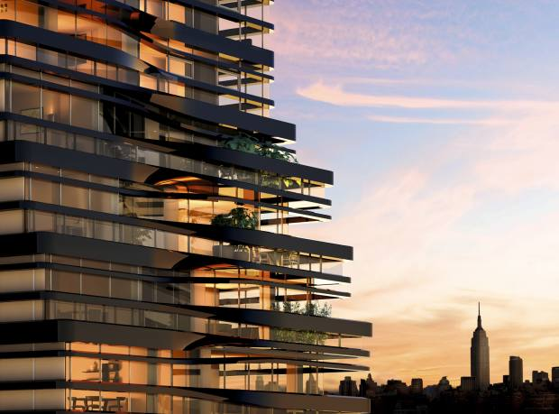 "UNStudio's ""ribboned"" Five Franklin apartment building in New York."