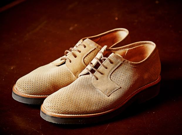 Private White VC suede Williams Oxford shoes, in collaboration with Grenson, £350