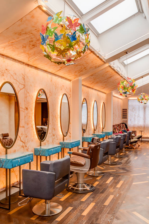 The nine-seat hair salon will offer cut, colour and barber-style services using Aveda andAmerican English vegan hair products