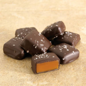 Abdallah Candies Sea Salt Caramels come in dark or milk chocolate, from $8.95 for 10