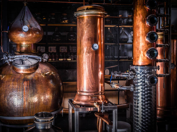 The Bimber Distillery, northwest London, produces spicy white rum with a creamy coffee finish