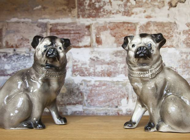 Victorian porcelain pugs, £180 for the pair