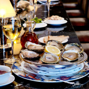 Wiltons serves a variety of oysters, including salty Loch Ryan, the Colchester and meaty River Yealm