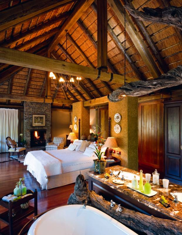 One of six suites in the lodge at Camp Jabulani.