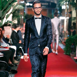 Dolce & Gabbana silk jacquard evening suit, from £2,800, made to order