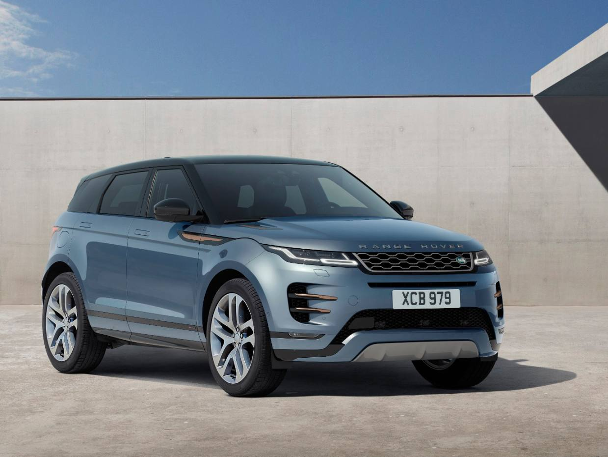 The new Range Rover Evoque starts at £31,600 for the D150, 150-horsepower, non-hybrid, front-wheel-drive version with manual transmission, rising to £40,350 for the P300 300-horsepower petrol, all-wheel-drive automatic