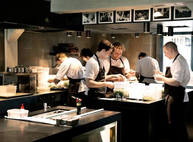 The kitchen at Noma, Copenhagen, the penultimate city on the itinerary