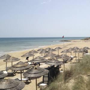 The beach at Masseria Torre Coccaro hotel in Puglia, Italy