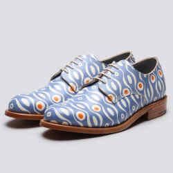 Grenson Derby shoes in cornflower blue, £430