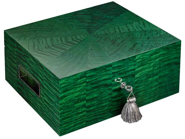 Lotusier Tea Humidor in Tai Ying Emerald from the Cha-Jing Collection, £10,500